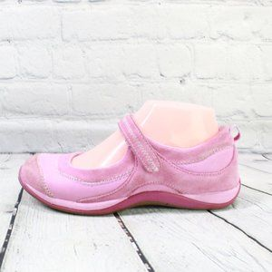 LL BEAN Mary Jane Pink Suede Comfort Shoes Size 4